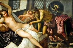 Jacopo Tintoretto - Mars and Venus Surprised by Vulcan, 1555 Alte Pinakothek Munich Germany