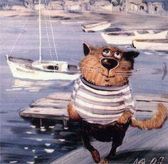Отчего у мышек цветные как.шки. | Блог художника Fantasy Paintings, Animal Paintings, Image Chat, Vintage Cat, Cat Drawing, Funny Art, Cute Illustration, Beautiful Cats, I Love Cats