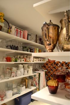 prop closet---would be perfect for vases, and all my odd pieces I use seasonally and special occasions.
