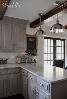 Kitchen Remodel Ideas On A Budget Beautiful 37 Brilliant Diy Kitchen Makeover Ideas Grey Kitchen Cabinets, Painting Kitchen Cabinets, Kitchen Paint, Kitchen Flooring, Diy Kitchen, Kitchen Decor, Kitchen Ideas, Soapstone Kitchen, Kitchen Backsplash