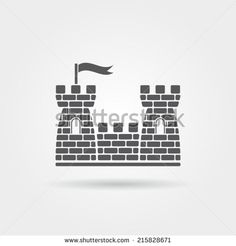 Castle Icon - stock vector