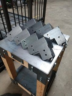 Set of For 4 x 4 Posts - Heavy Duty Pergola Shop Table Deck Corner Brackets! (T's & L's Available too) Made From Plate Steel In USA! Diy Welding, Welding Table, Welding Projects, Carpet Stair Treads, Carpet Stairs, Yankee Candles, Cnc Table, Sheet Metal Fabrication, Under The Table