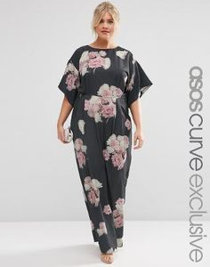 a48818d24e55 ASOS CURVE SALON Spaced Floral Maxi Dress at asos.com