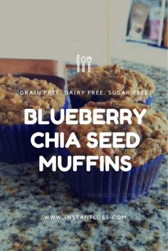 Blueberry Chia Seed Muffins - Instant Loss - Conveniently Cook Your Way To Weight Loss Healthy Diet Recipes, Healthy Breakfast Recipes, Healthy Foods To Eat, Healthy Snacks, Healthy Dinners, Healthy Eating, Breakfast Ideas, Healthy Nutrition, Nutrition Chart