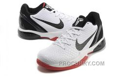premium selection fdfdc dc8a1 Nike Zoom Kobe Vi Mens White Black Red