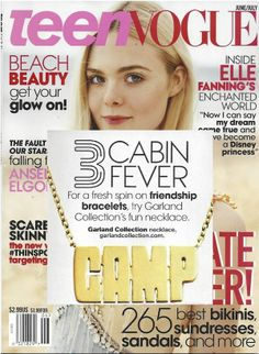 Garland Collection gold CAMP necklace featured in Teen Vogue.