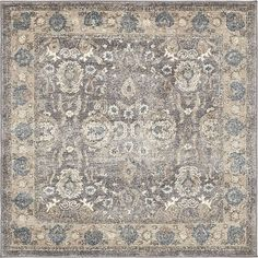 Soft, muted colors like blue, gray and cream. Fine floral patterns as soft as a dream. Plush, stain-resistant and easy to clean, The Salzburg Collection is our favorite thing! White Area Rug, Blue Area Rugs, Square Rugs, Brown And Grey, Gray, Round Rugs, Muted Colors, Salzburg, Home Decor Styles