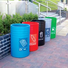 The COT/3 is a circular, open top, polythene recycling unit which is available in bright, bold colours to attract the eye of the recycler!