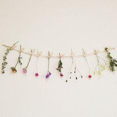 ドライフラワーのガーランドです***麻ひもやクリップもお付けしておりますので開封後すぐに飾ることができます。生花の一番キレイな状態を優しくゆっくり自然乾燥させ仕上げました。お部屋にお花のある暮らしをお楽しみ下さい。玄関やリビングなどお部屋がパッとおしゃれになります。ドライフラワーは日々お色や形が変化していきますがその変化をアレンジしながらお楽しみ下さい。束ねてミニスワッグにしたり花瓶にかざるのもかわいいです♡※麻ひもは長さ170cm以上です。お写真はひもを二重にして約80cmでお撮りしております。長めにお入れしますのでお部屋に合わせてカットできます♪内容⚫クリップ10個⚫麻ひも⚫ドライフラワー10本(ドライフラワー長さ10cm〜20cm)*ユーカリ*チース*センニチコウ*スターチス*かすみ草*エリンジューム*ミニバラ ···etc花の色は様々ですが、お写真のようにカラフルにお入れしております。花は上記の中から10本お入れしております。発送にはリサイクル箱を使用しております。光や撮影具合により写真とはお色や形など異なりますこと予めご了承下さい。梱包には十分気をつけおり...