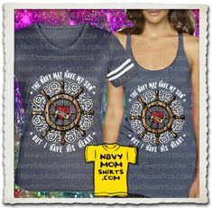 WOW! Now this is a gorgeous shirt! Ships Wheel shirt  and tank top by NavyMomShirts.com - Other styles too!
