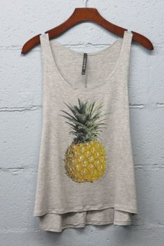 Pineapple Tank - Heather Grey >> www.anchorabella.com New Arrivals Weekly! Always Fast, Free Shipping!