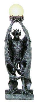 Intense Gargoyle Humanoid with Wings Globe Lamp