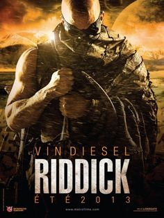 RIDDICK gets its first movie poster with Vin Diesel! Shut the front door!!!