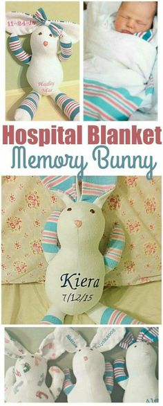 Adorable memory bear or bunny made from baby's hospital blanket. Perfect baby keepsake for new moms. affiliate link Adorable memory bear or bunny made from baby's hospital blanket. Perfect baby keepsake for new moms. Baby Must Haves, Baby Shooting, Do It Yourself Inspiration, Style Inspiration, My Bebe, Baby Keepsake, Everything Baby, Baby Time, Baby Crafts