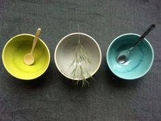 Colourful handmade ceramic bowls set of 3 by SonikiCeramics