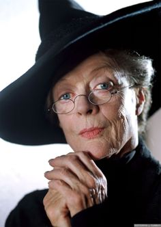 Dame Maggie Smith as Deputy Headmistress Minerva McGonagall in the Harry Potter movies