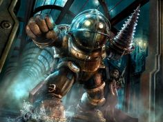 Bioshock A Big Daddy with his Little Sister. From Bioshock. Bioshock Infinite, Bioshock 2, Bioshock Rapture, Bioshock Series, Bioshock Artwork, Bioshock Cosplay, Xbox One, Pokemon Go, Bioshock Remastered