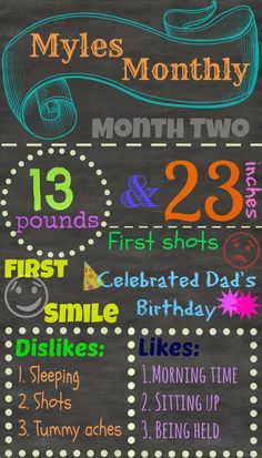 Myles Monthly: 2 Month Update, Baby Updates, Birthday, Baby Favorites and Statistics, Chalkboard baby sign, art, picmonkey, DIY, blog, mommy blogger, #theeverydaymomma