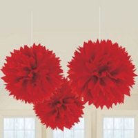 Red and Gold tissue paper balls?