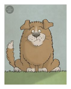 Dog  Illustration Print by CarlBatterbee on Etsy