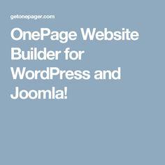 OnePage Website Builder for WordPress and Joomla!