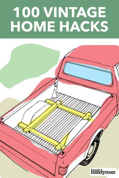We've culled handy hints from the past and put them together to transform things around the house. Check out these vintage home hacks. Simple Life Hacks, Useful Life Hacks, Handyman Projects, Home Fix, Diy Home Repair, Poster Design, Diy Garage, Garage House, Home Repairs
