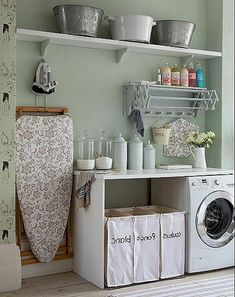 "Fantastic ""laundry room storage diy cabinets"" detail is offered on our website. Read more and you wont be sorry you did. Small Shelves, Small Storage, Diy Storage, Storage Spaces, Storage Shelves, Storage Ideas, Laundry Room Organization, Laundry Room Design, Laundry Rooms"