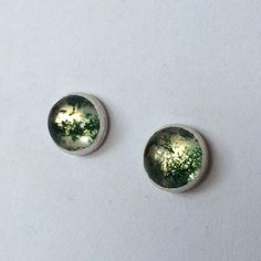 8mm silver stud earring featuring a moss agate and crystal quartz doublet. Also available in amber, amazonite, carnelian and moonstone. Doublet, Moss Agate, Mixed Metals, Carnelian, Quartz Crystal, Metal Working, Amber, Stud Earrings, Crystals