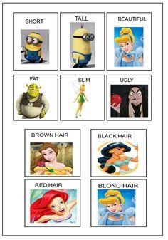 Describing myself :) Physical description flashcards.
