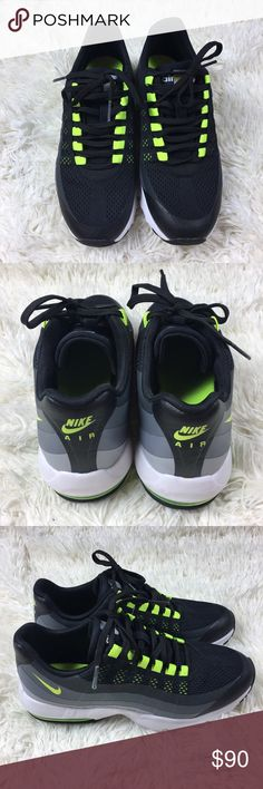 Nike Air Max 95 Ultra Black and Neon Air Max 95's. So hard to let these go but they do run about half a size small. Brand new but no tags or original box. Nike Shoes Sneakers