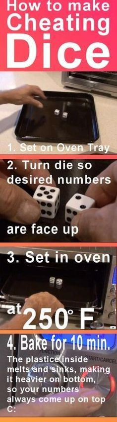 to make cheating dice How to make cheating dice.better pin this -just in case!How to make cheating dice.better pin this -just in case! April Fools Pranks, April Fools Day, Cool Stuff, Stuff To Do, Random Stuff, Funny Stuff, Interesting Stuff, Useful Life Hacks, Funny Pranks