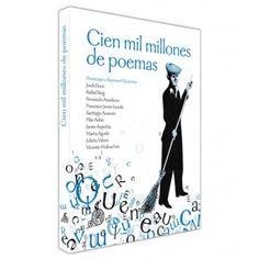 """""""Cien mil millones de poemas"""" En 1961 salió a la luz un libro mítico, Cien mil millones de poemas, de la mano de Raymond Queneau. Este libro, propone 10 sonetos cuyos versos son combinables y riman entre sí, dándose así hasta 100.000 millones de combinaciones posibles.  En su cincuenta aniversario, 10 autores de nuestra literatura  crean cada uno un soneto para dar lugar a este mismo número de combinaciones.  Signatura: P cie"""