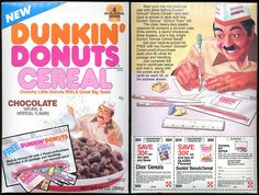 1988 Dunkin' Donuts Cereal Box by bolio88, via Flickr