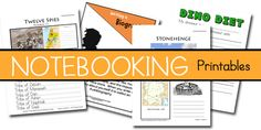 Free Notebooking Printables   http://www.thecraftyclassroom.com/HomeschoolPrintablesNotebooking.html