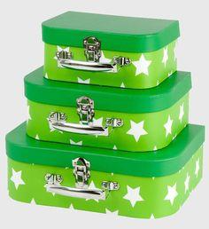 Green Star Suitcase Set