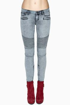Dittos Courtney Moto Skinny Jeans