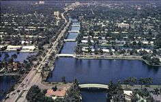 Aerial view of The isles of Fort Lauderdale, Florida