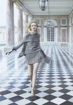 "Daria Strokous byInez & Vinoodh forDior ""Secret Garden 2 — Versailles"""