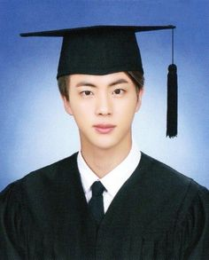 Jin's graduation photo ❤️ Seokjin, Hoseok, Bts Jin, Taehyung, Bts School, Bts Predebut, High School Photos, Wattpad, Graduation Pictures