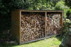 Wood Shed, Outdoor Furniture, Outdoor Decor, Firewood, Home Decor, Wood Store, House, Log Cabin Siding, Woodburning