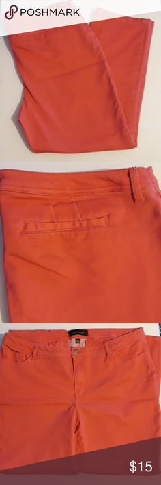 Larry Levine jeans Adorable melon colored jeans from Larry Levine size 14. EUC. Cotton spandex blend. 5 pockets. 20% off everything in my closet until January 2nd 2018! Simply add your likes to a bundle and I will take 20% or more off the total price! Happy poshing and happy holidays! Larry Levine Jeans