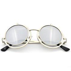 Hellokiti 2015 Occident Fashion Trendsetter Flip Round Sunglasses(C2)