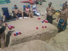 Table at the beach
