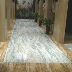 River Jasper Onyx marble floor tiles in a grand entrance hall - eyecatching and timeless. Onyx Tile, Onyx Marble, Marble Tiles, Marble Floor, Tiling, Floor Design, Tile Design, House Design, Large Floor Tiles