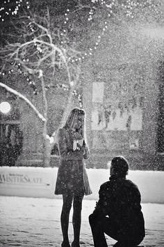 Sweet proposal on Christmas