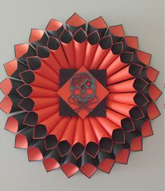 Halloween paper wreath by MaddHatterStudio on Etsy