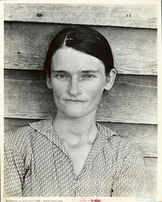 Allie Mae Burroughs, wife of cotton sharecropper. Hale County, Alabama. Photo by Walker Evans.