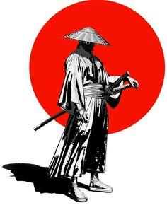 Samurai Drawing, Warrior Drawing, Samurai Artwork, Arte Ninja, Ninja Art, Japanese Artwork, Japanese Tattoo Art, Japanese Warrior Tattoo, Japanese Prints