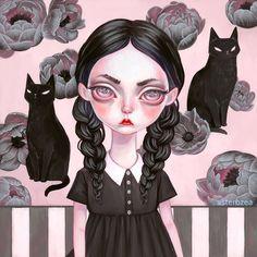 Wednesday Addams Canvas Art by Melanie Schultz Peony Painting, Goth Art, Pop Surrealism, Pastel Goth, Cartoon Art, Goth Girls, Art Inspo, Canvas Wall Art, Art Drawings