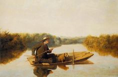1849 William Tylee Ranney (American artist, 1813-1857)  First Fish of the Season